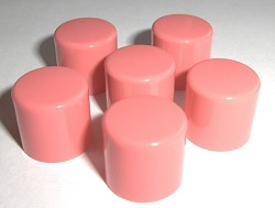 Pink Lip Balm Caps Only - No Lip Balm Tubes