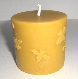 Beeswax Candle - Bee Design