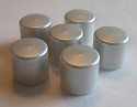 Light Silver Lip Balm Caps Only - No Lip Balm Tubes