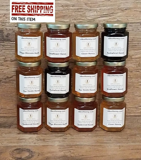 Honey Variety Pack in 6 oz  Jars with free shipping