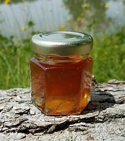 2 oz Hexagon Wildflower Honey Favor Jar