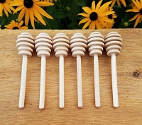 Wooden Honey Dipper 4 inches
