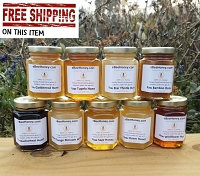 6 oz. Variety Pack - 9 Raw Honey Varieties