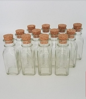 24 - 4 oz Empty Muth Jars + Corks