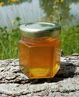2 oz Hexagon Orange Blossom Honey Favor Jar