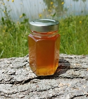 6 oz Hexagon Orange Blossom Honey Favor Jar