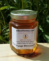 6 oz. Jar Raw Orange Blossom Honey