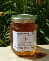 6 oz.  Jar Raw Wildflower Honey