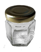 1.5 oz Hex Empty Jars + Lids - 24 Jars