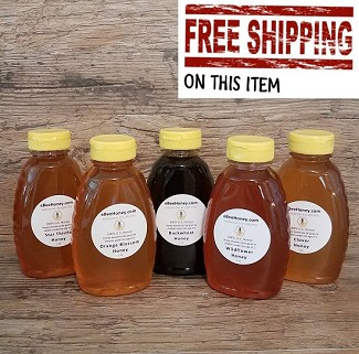 1 lb. Variety Pack: 5 Honey Varieties