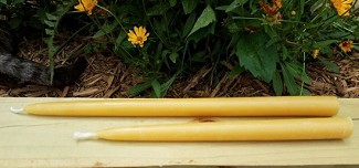Beeswax 12 inch Taper - you'll get 2 candles