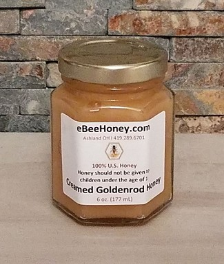 Creamed Goldenrod Honey - 6 oz.