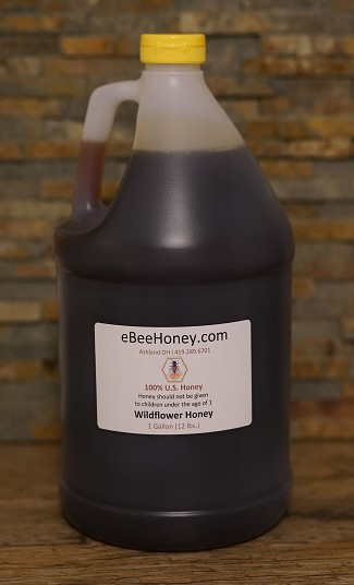 1 Gallon Wildflower Honey 12 lbs