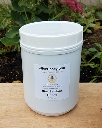5 lbs. Raw Bamboo Honey