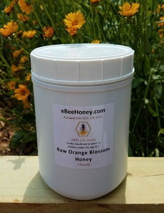 5 lbs. Raw Orange Blossom Honey