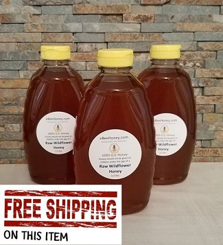 7.5 lbs. Raw Wildflower Honey